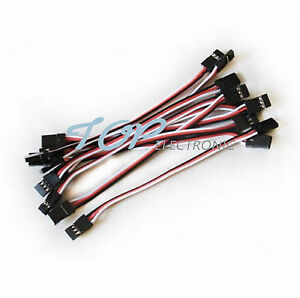 10pcs-10cm-Quadcopter-Servo-Extension-Lead-Futaba-JR-Male-to-Male-Wire-Cable