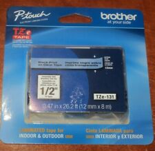 New Brother Black Print On Clear Laminated Tape For P Touch Label Maker Tze131