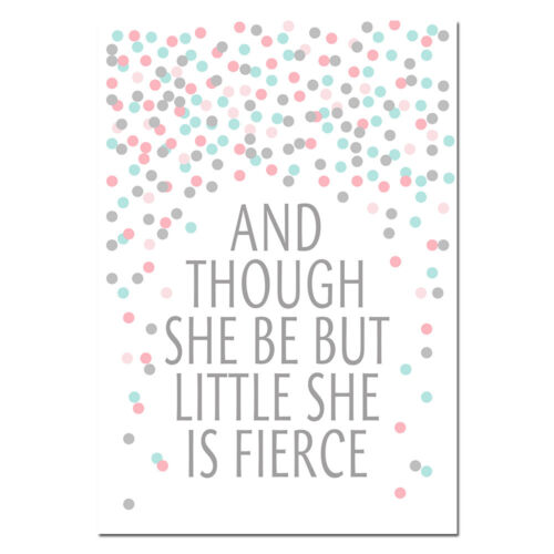 Shower Nursery Canvas Poster Love Quote Wall Art Print Baby Kids Room Decoration