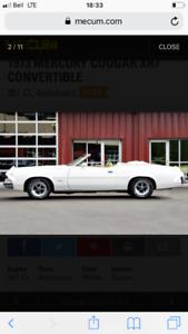 73 cougar xr7 convertible