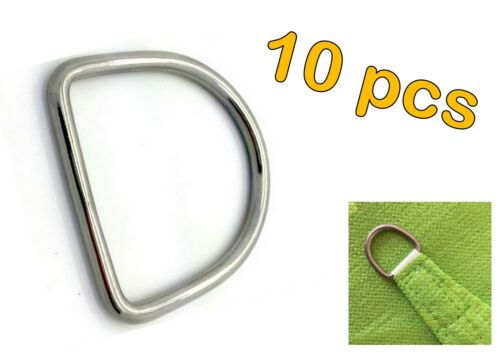 10pcs STAINLESS STEEL 316 DEE D RING MARINE DECK SHADE SAIL 3mm x 20mm