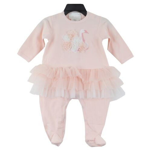 Biscotti Baby Girl/'s Long Sleeve Tutu Footie Outfit size 6 Months Light Pink