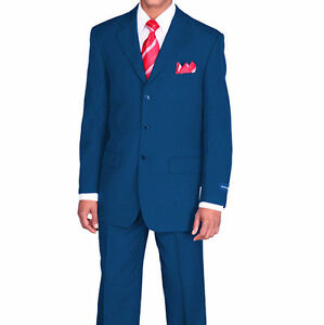 Men's Basic Single Breast 3 Button Work Suit with Pants Fortino Landi 802P