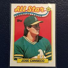 1989 TOPPS ALL-STAR #401  JOSE CANSECO OAKLAND A'S  MINT