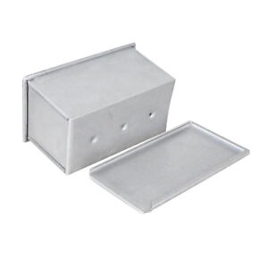 Pan-Loaf-Pan-450g-Non-Stick-Steel-Bread-Bakeware-Toast-Mold-w-Lid-Silver