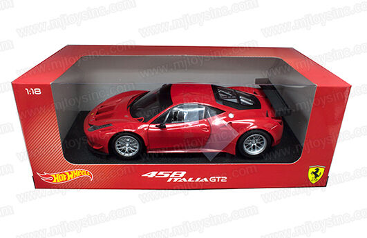 1 18 HOT WHEELS FOUNDATION AUTO STERBEN CAST FERRARI 458 ITALIEN GT2 BCJ77