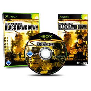 GIOCO-XBOX-DELTA-FORZA-Black-Hawk-Down-scatola-originale-con-istruzioni