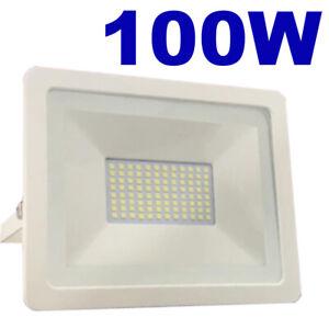 Projecteur LED Imperméable 100W = 600W Sécurité IP65 Extérieur Jardin Mural