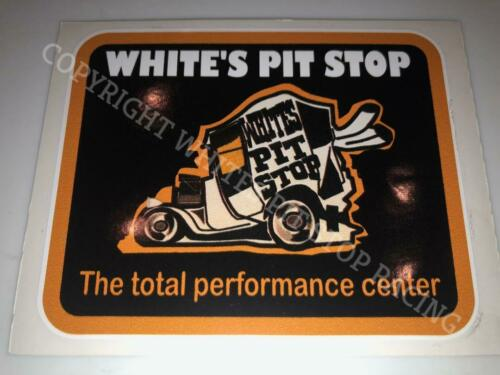 """WHITE/'S PIT STOP DELIVERY HOT ROD THE TOTAL PERFORMANCE CENTER DECAL STICKER 4/"""""""