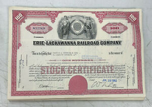 Erie-Lackawanna-Railroad-Company-Stock-Certificate-RR-Norfolk-Southern-NS