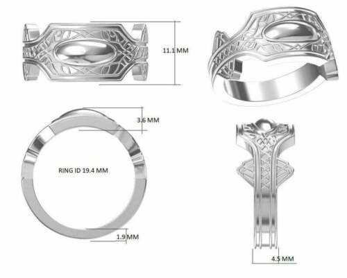 Details about  /Wakanda Ring in 925 Silver super hero with polish black panther chadwick boseman