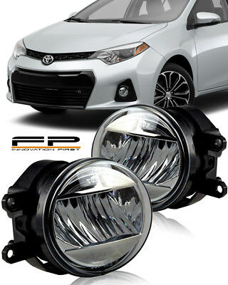 Pair Front Headlight Assembly for 2009 2010 Toyota Corolla Left Right Side Replacement Headlamps Driving Light Black Housing Clear Lens