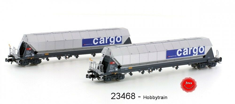 Hobbytrain 23468-vagones 2er set SBB tagnppss silowagen  cacao transporte