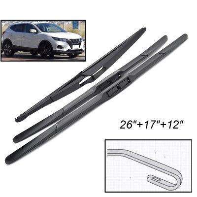 Front and Rear Blades X5 SUV Jul 2013 Onwards Windscreen Wiper Blade Set 3 x Blades
