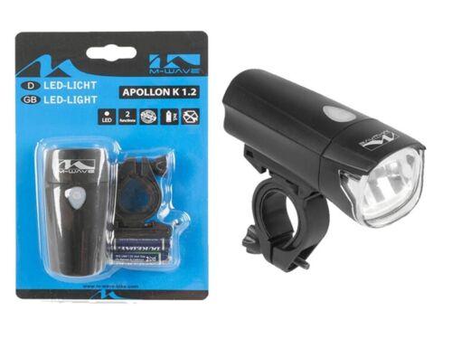 Fahrrad LED Scheinwerfer Apollon 1.2 15-30 LUX StVZO Batterie Leuchte  01551