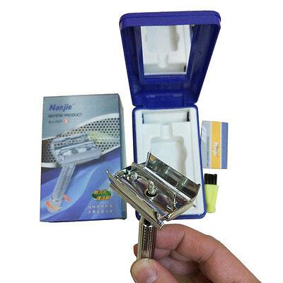 Men's Safety Razor Double Edge Classic Razor Pack 1 Handle&1 Blades Gift