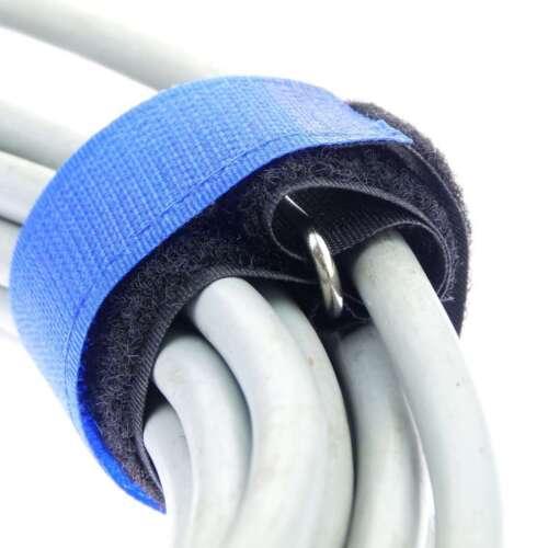 100x Kabelklettband 300 x 25 mm in 5 Farben Kabelklett Klettband Kabelbinder Öse