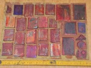 Konvolut-Klischees-Druckplatten-Druckerei-Drucken-letterpress-printer-039-s-plates