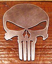 """Metal Punisher Skull Real Metal Art 6"""" High"""