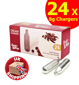 8g whipped cream chargers tastywhip nos n2o nitrous oxide tasty whip canisters ebay. Black Bedroom Furniture Sets. Home Design Ideas