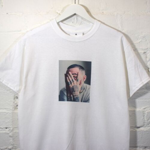 Réalité Mac Miller Mains T-shirt imprimé blanc tee