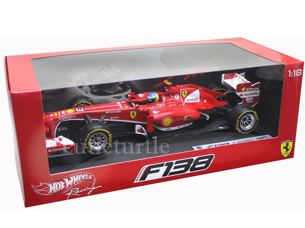 Hot Wheels 2013 Ferrari Fórmula F 1 F138 1 18 Diecast Fernando Alonso   3 bck14