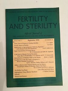 Fertilidad Y Asrm Volume 1 Septiembre 1950