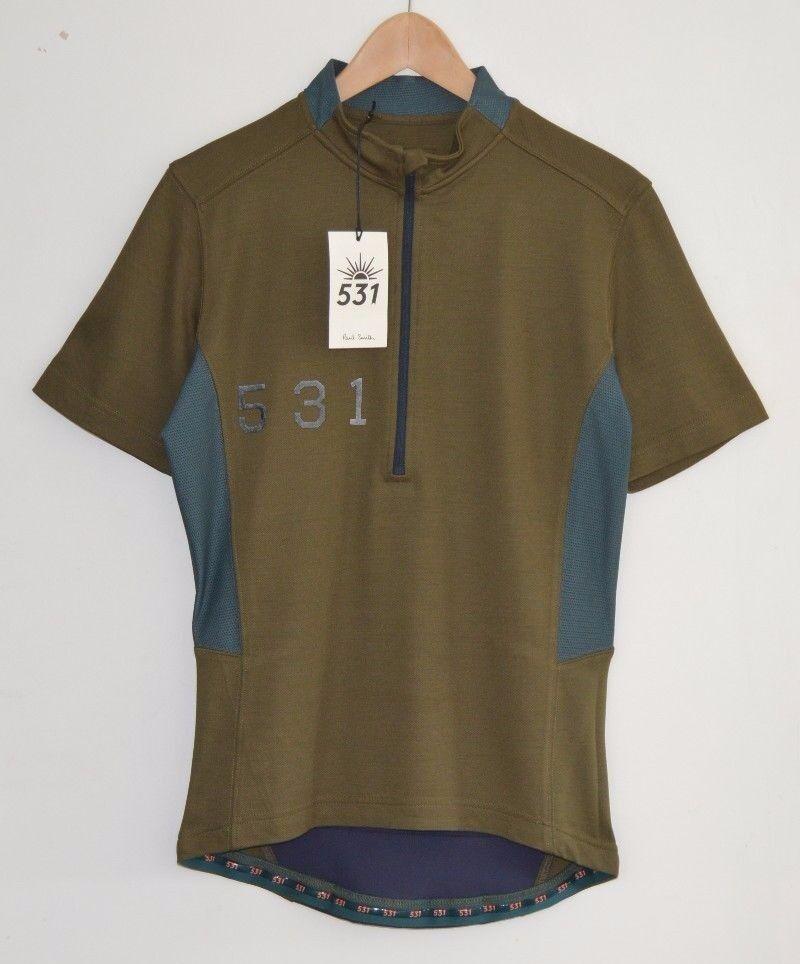 Paul Smith 531 verde Ciclismo Jersey Tshirt Maglietta a camicia BICI RAPHA Medium