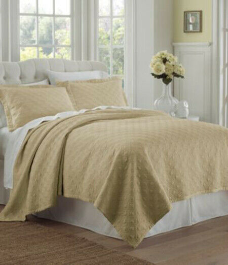 Waterford PEMBROKE Queen Quilt (SAND) Brand New