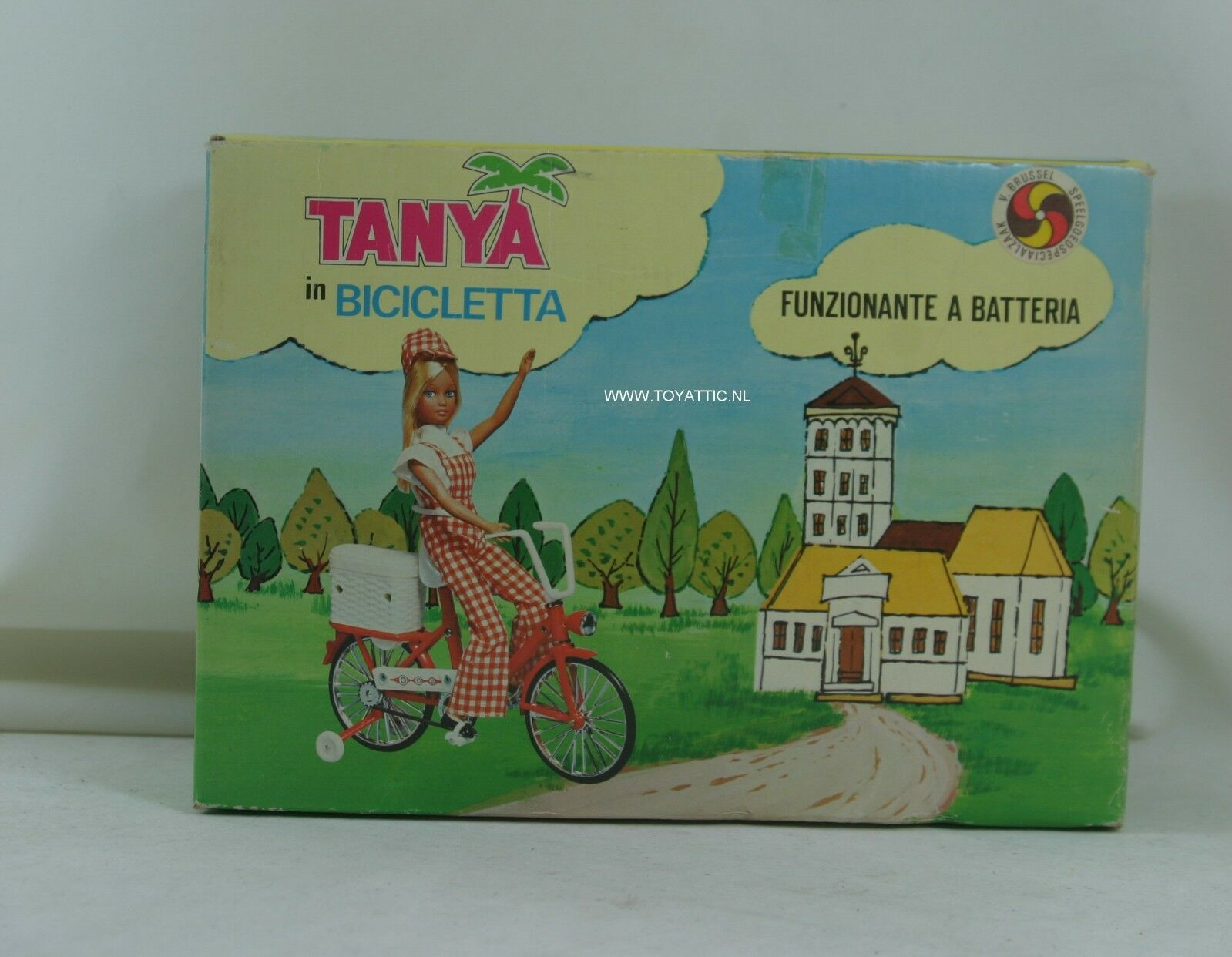 Barbie Barbie Barbie Größed clone doll Tanya with moving bicycle from '70's with original box 7e8697