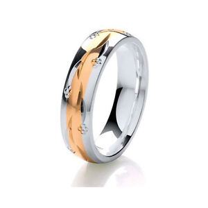 Image Is Loading 9ct Rose Gold Amp Argentium Silver 2 Colour