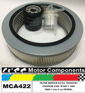 FILTER-SERVICE-KIT-Air-Oil-Fuel-for-DAIHATSU-CHARADE-G100-CB23-1L-Petrol-6-87-gt-93