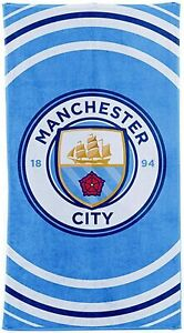 MANCHESTER CITY FC FACE CLOTH 100/% COTTON 30 X 30 CM FLANNEL NEW XMAS GIFT