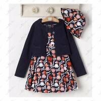 Janie And Jack Tailored Tulip Outfit Dress Sweater Hat 2t