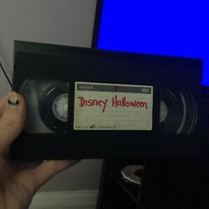 PreRecorded VHS Used Blank Tape Playhouse Disney Nick Jr Halloween Commercials