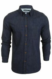 French-Connection-Mens-Denim-Shirt-Long-Sleeved