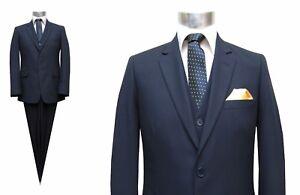 best sneakers ea7de e6ea9 Details zu Herren Anzug 3-teilig Muga Gr.27 Blau