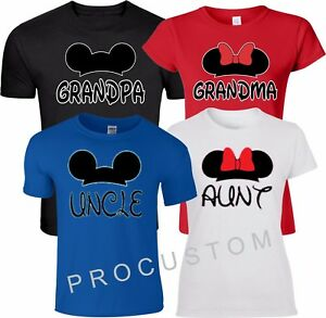 a82b59f8 Image is loading Grandma-Grandpa-Family-Mickey-Minnie-Disney-Customized-RED-