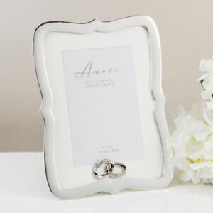 Amore-Silver-Plated-Scalloped-Edge-Photo-Frame-with-Crystal-Set-Rings-4-034-x-6-034