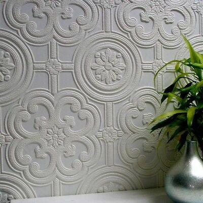 Recouvrable Papier peint de luxe en relief texturé Berkeley Facile Appliquer ANAGLYPTA