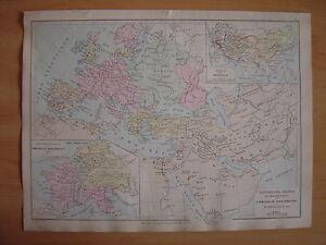 CARTE géographique Empire des Arabes et démembrement de l' Empire de Charlemagne vpTm3cRu-09115041-403533593