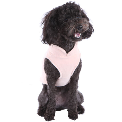 FLEECE VEST Soft Dog Sweater Harness All Colors-Sizes Easy On//Off w O-Ring