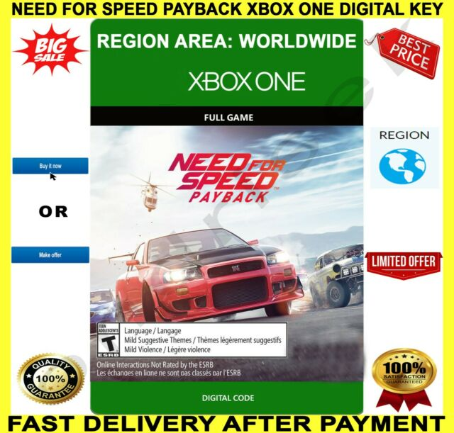 Need For Speed Payback Microsoft Xbox One 2017 For Sale Online