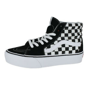 96d33061fe97 VANS SK8 HI PLATFORM 2.0 CHECKERBOARD TRUE WHITE MENS US SIZES
