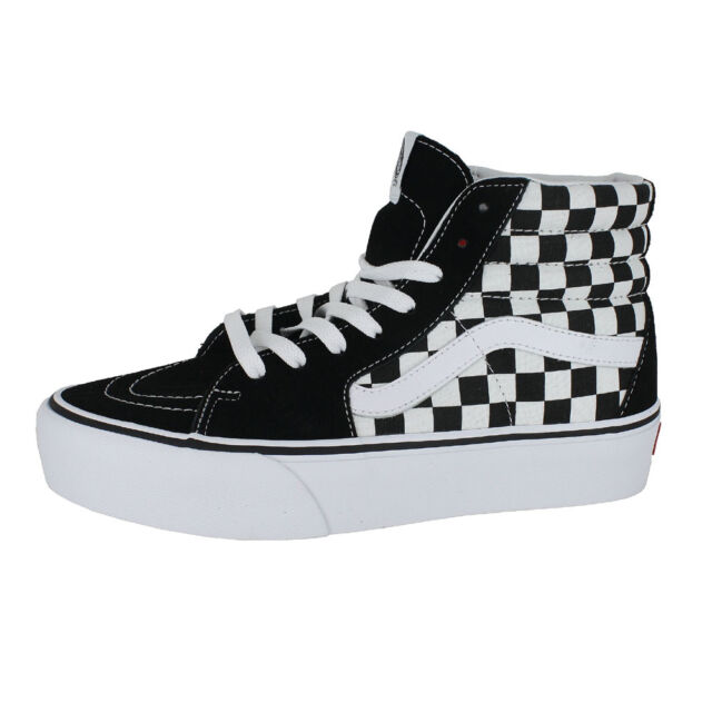VANS SK8 HI PLATFORM 2.0 CHECKERBOARD TRUE WHITE MENS US SIZES