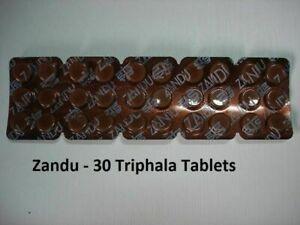 ZANDU-TRIPHALA-30-TABLETS-TRIPHALA-TRIFALA-TRIPHLA-AYURVEDIC-FREE-SHIPPING