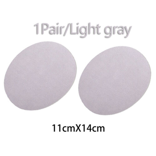 2PCS Applique Apparel Repair Iron-on Suede Oval Fabric Patch Elbow Knee DIY