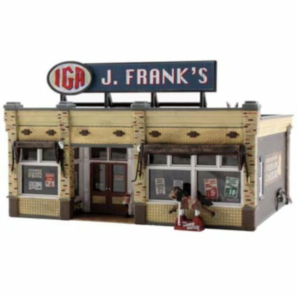 NEW Woodland J. Frank's Grocery Store Built & Ready HO Scale BR5050