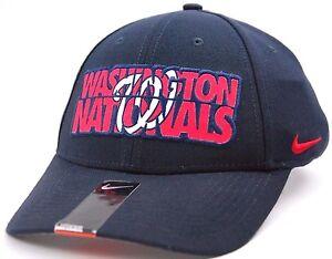 7ca8e8e10 Details about Washington Nationals Nike MLB Baseball Verbiage Legacy 91  Swooshflex Cap Hat