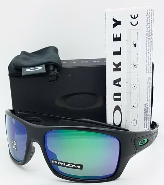 d28412fc094 NEW Oakley Turbine sunglasses Matte Black Prizm Jade Polarized 9263-45  AUTHENTIC